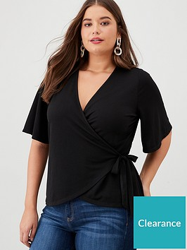 v-by-very-curve-wrap-crepe-blouse-black