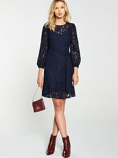 v-by-very-lace-tiered-skater-dress-navy