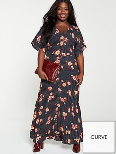 v-by-very-curve-floral-spot-maxi-dress-multi