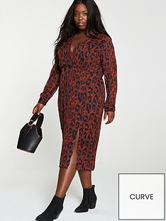 v-by-very-curve-red-animal-print-wrap-dress-multi