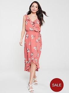 oasis-ruby-patched-ruffle-midi-dress