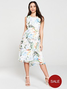 wallis-oriental-pop-tiered-midi-dress
