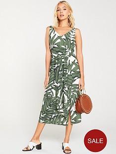 wallis-sketch-palm-shift-dress-khaki