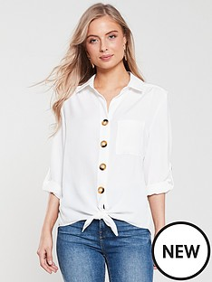 wallis-linen-look-cloth-shirt-ivory
