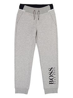boss-boys-classic-logo-leg-cuffed-joggers-grey