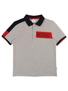 boss-boys-short-sleeve-chest-logo-polo-shirt-grey