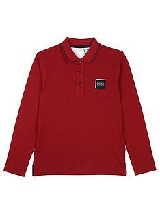 boss-boys-classic-long-sleeve-logo-polo-shirt-crimson