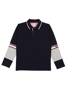 boss-boys-long-sleeve-block-polo-shirt-navy