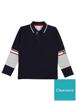 boss-boys-long-sleeve-block-polo-shirt-navy