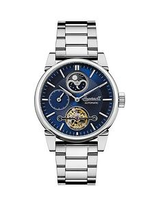 ingersoll-the-swing-blue-sunray-moon-phase-skeleton-eye-automatic-dial-stainless-steel-strap-mens-watch