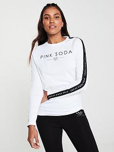 pink-soda-rowe-tape-tee-whitenbsp