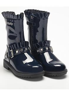 lelli-kelly-rita-frill-ankle-boot-navy-patent