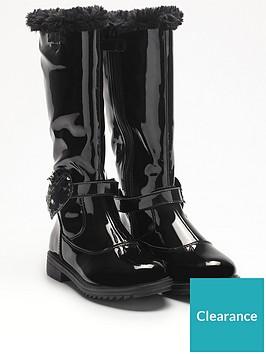 lelli-kelly-greta-faux-fur-knee-high-boots-black-patent