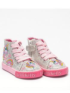 lelli-kelly-girls-abigail-unicorn-baby-hi-top-plimsolls-silver-glitter