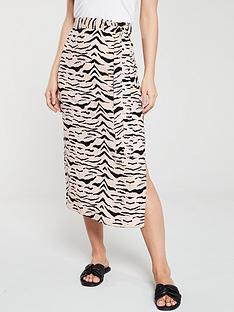 v-by-very-bias-cut-midi-skirt-zebra