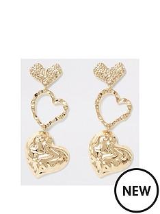 river-island-heart-drop-earrings-gold