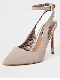 51e42afefed5 River Island River Island Wide Fit Ankle Strap Court Shoe - Light Pink