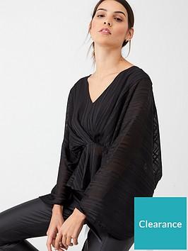 v-by-very-burnout-lurex-stripe-kimono-blouse-black