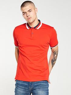 v-by-very-colour-block-collar-polo-shirt-scarlet