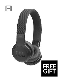ab06a0cc0c0 JBL Live 400BT Bluetooth Wireless On-Ear Headphones (Black) with Voice  Assistant + Limited FREE Sports Headphones Offer