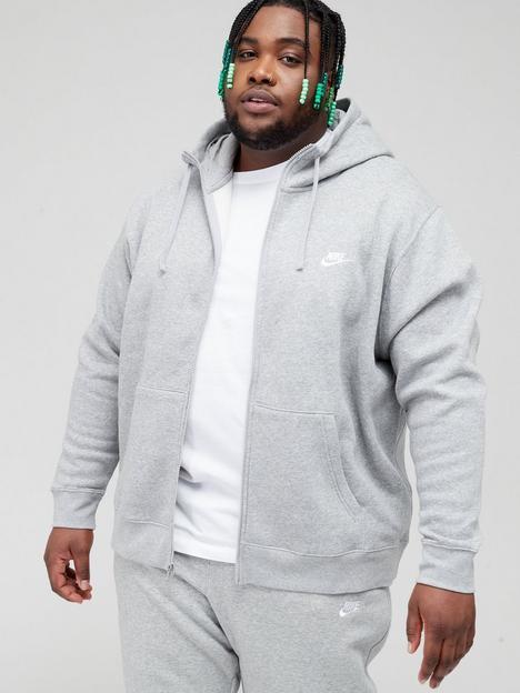 nike-sportswear-plus-size-club-fleece-full-zip-hoodie-dark-grey
