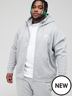 nike-sportswear-plus-size-club-fleece-full-zip-hoodie-dark-grey