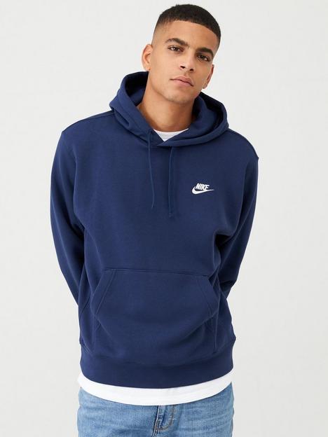 nike-sportswear-club-fleece-overhead-hoodienbsp--navy