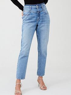v-by-very-yoke-detail-girlfriend-jeans-light-wash