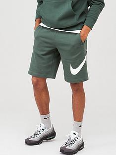 nike-sportswear-club-fleece-logo-shorts-greenwhite