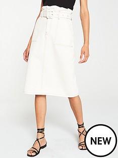 v-by-very-paperbag-waist-midi-skirt-ecru