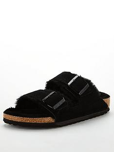 birkenstock-arizona-shearling-narrow-flat-house-shoe-black