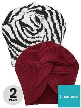 v-by-very-2-pack-turbans-blackburgundy