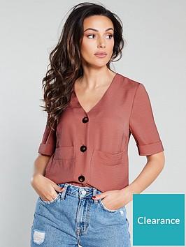 michelle-keegan-short-sleeve-utility-shirt-pink