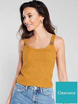michelle-keegan-button-detail-knitted-vest-mustard