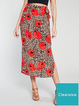 michelle-keegan-printed-midi-skirt-red-print