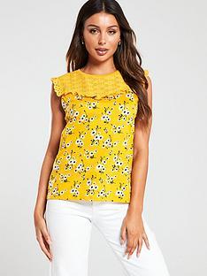oasis-dahlia-button-throughnbsptie-front-bardotnbsptop-yellow
