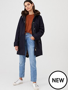 joules-piper-luxe-faux-fur-hooded-coat-navy