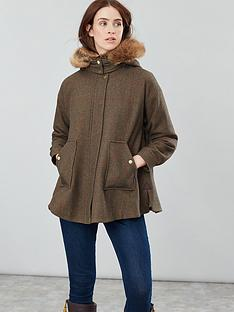 joules-carolyn-swing-coat-green-tweed