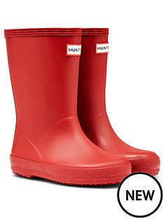 hunter-kids-first-classic-wellington-boots-red