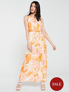 wallis-swirl-print-maxi-dress-orange