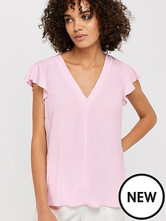 monsoon-nessa-short-sleeve-blouse-pink
