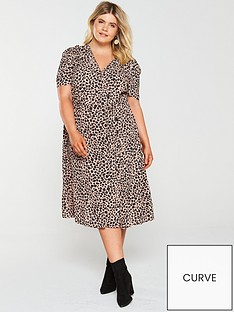 monsoon-curve-margot-animal-print-button-dress-pink