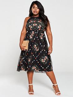 monsoon-curve-apple-embellished-midi-dress-black