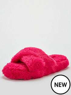 v-by-very-bella-cross-strap-slider-slippers-pink