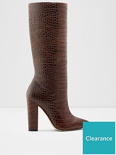 aldo-ibilia-knee-high-reptile-boots-brown