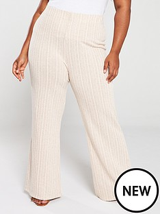 v-by-very-curve-textured-jersey-co-ord-trouser-sand