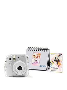 fujifilm-instax-fujifilm-instax-mini-9-white-camera-kit-withnbsp10x-macaron-film-glitter-case-amp-flip-album