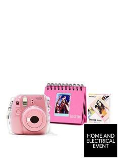 fujifilm-instax-fujifilm-instax-mini-9-pink-camera-kit-withnbsp10x-macaron-film-glitter-case-flip-album