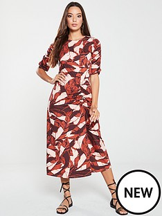 v-by-very-jersey-midi-dress-palm-print