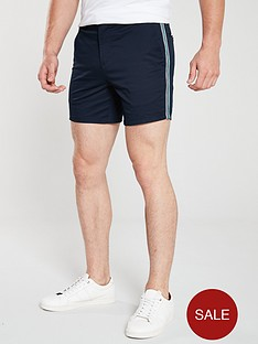 river-island-navy-tape-slim-fit-chino-shorts
